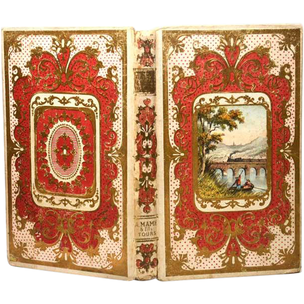 Antique nineteenth century french romantic binding from parisbrocante