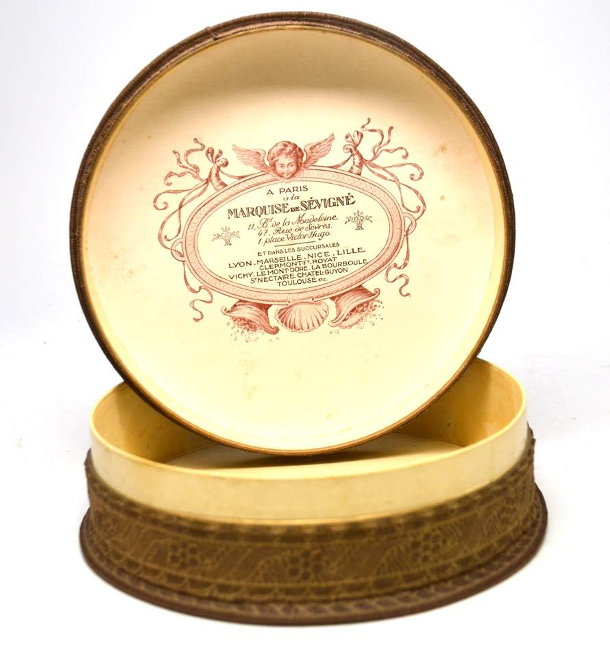 antique marquise de sevigne chocolate box with lithograph from parisbrocante on ruby