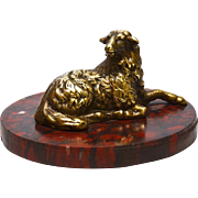 Fine Antique Nineteenth Century Gilded Bronze Figural Sculpture on Marble Base