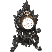 Antique Nineteenth Century Figural Porte Montre Watch Holder