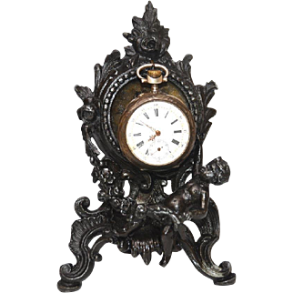 Antique Nineteenth Century Figural Porte Montre Watch Holder