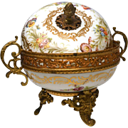 Antique Nineteenth Century Hand Painted Porcelain Bonbonniere