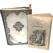 Antique Nineteenth Century Mother of Pearl and Silver Carnet de Bal