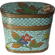 Antique Cloisonné Opium Box
