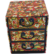 Japanese Chiyogami Paper 3-Drawer Jewelry Box