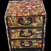Japanese Chiyogami Paper 3-Drawer Jewelry Box