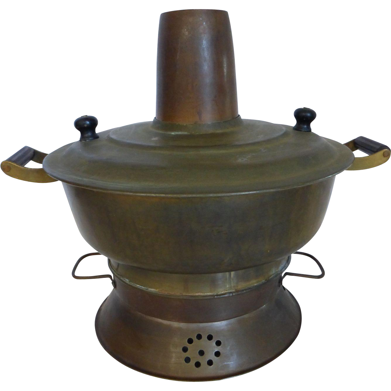Antique Chinese Brass Hot Pot Cooking Pot from historique ...