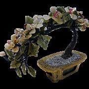 Vintage Jade Semi-Precious Stone Bonsai Tree