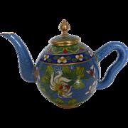 Chinese Cloisonné Miniature Teapot
