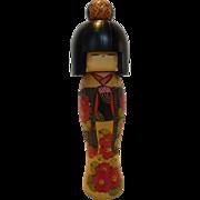 Vintage Kokeshi Doll Artist Signed Japan