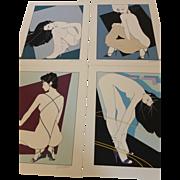 "Vintage Patrick Nagel ""The Playboy Portfolio I"" Numbered and Signed MINT"
