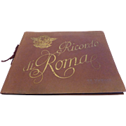 """Ricordo di Roma"" Souvenir Book of Rome Sepia Bookplates 1950's"