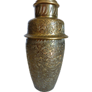 Colonial Engraved Brass Cocktail Shaker India