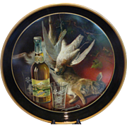 Antique Rainier Beer Tray Hunt Scene Chas W. Shonk