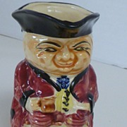 Vintage Ceramic Toby Character Creamer Pitcher Japan