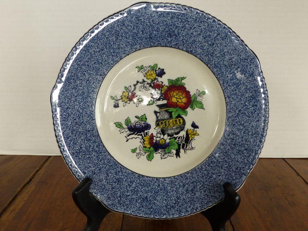 """Soho Pottery Sponge Ware Oriental """"Peel"""" Pattern Solian Ware England"""