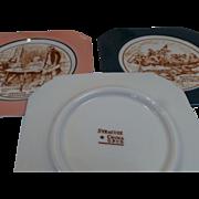 Syracuse China O.P.Co. Plates - Historic American Scenes