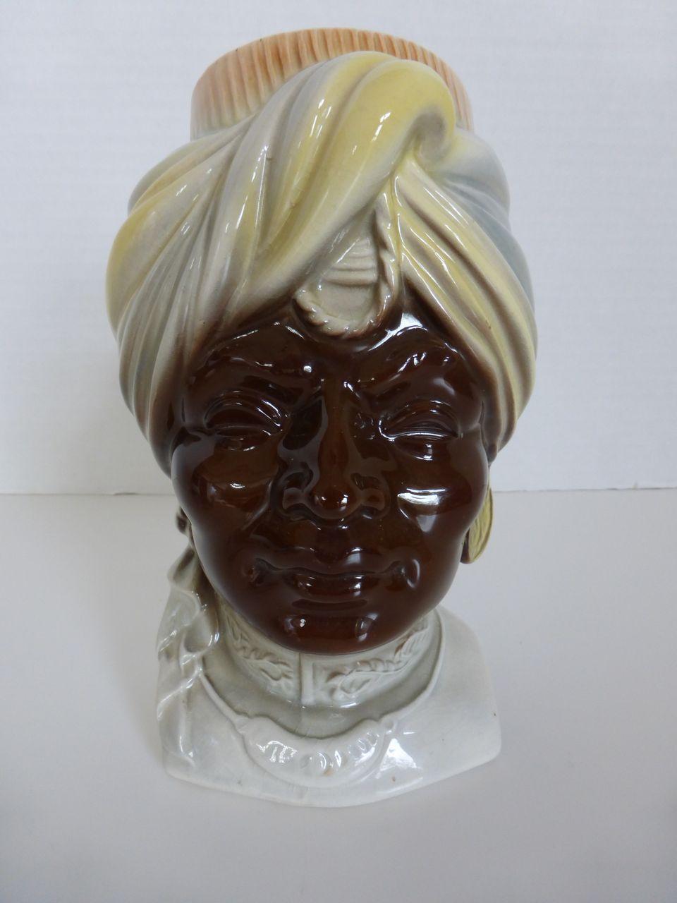 Royal Copley Blackamoor Head Vase Wall Pocket From Historique On Ruby Lane