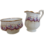 1930's Royal Albert Creamer and Open Sugar Corn-Cockle Pattern