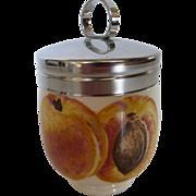 Vintage T. G. Green Egg Coddler Harvest Fruit Apricot Pattern