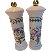 Portmeirion Botanic Garden Salt & Pepper Mill Set Sweet Pea/Pansy - England