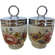 Royal Worcester Egg Coddlers Bournemouth Pattern Standard Size Pair