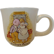 Poole Pottery Child's Nursery Rhymes Mug Tea Cup Georgie Porgie & Wee Willie Winkie