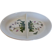 Portmeirion Botanic Garden Oval Divided Vegetable  or Serving Dish 11″ England