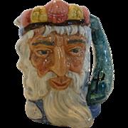 """Royal Doulton """"Neptune"""" Small Toby Mug Character Jug #D6552 1960"""