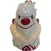 Vintage McCoy Clown Bust Cookie Jar