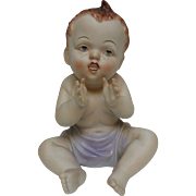 Bisque Piano Baby Figurine Hand Painted