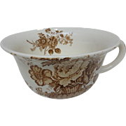 Alfred Meakin Brown CHARLOTTE Large Porridge Mug Staffordshire England Transferware