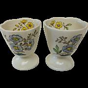 Vintage Spode Gainsborough (Marlborough)  Footed Single Egg Cups Pair
