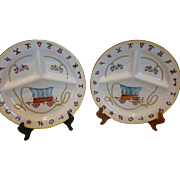 """1950's Fred Roberts Divided Grill Plate, """"Chuck Wagon and Spurs"""" Western Motif Pattern (5 available)"""
