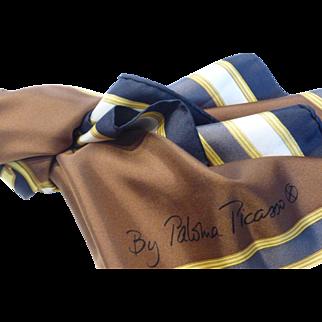 Vintage Paloma Picasso Silk Twill Scarf