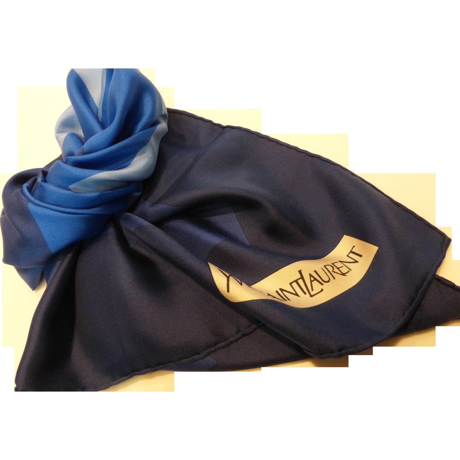 Vintage Yves Saint Laurent Silk Twill Scarf