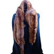 Red Fox Fur Wrap Scarf Shawl of 5 Full Body Pelts J.J. HAGGARTY Los Angeles-Beverly Hills