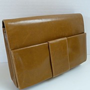 Vintage RODO Leather Handbag Clutch Purse Italy