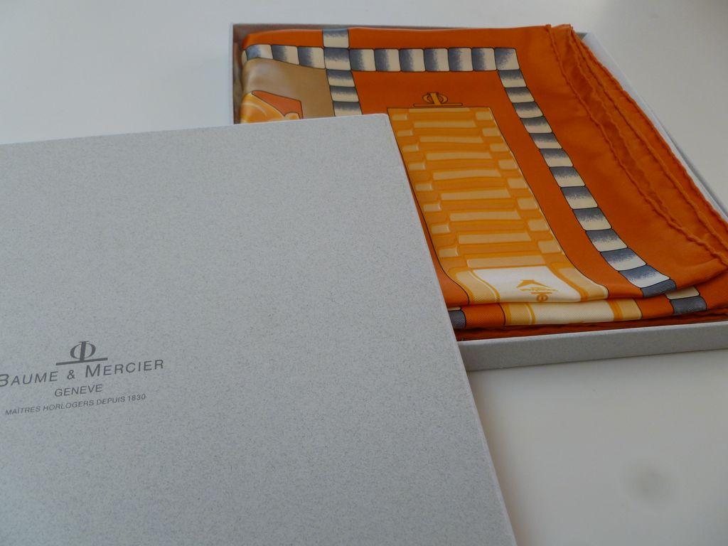 Vintage Baume & Mercier Silk Scarf Oscar's Gift Bag Item