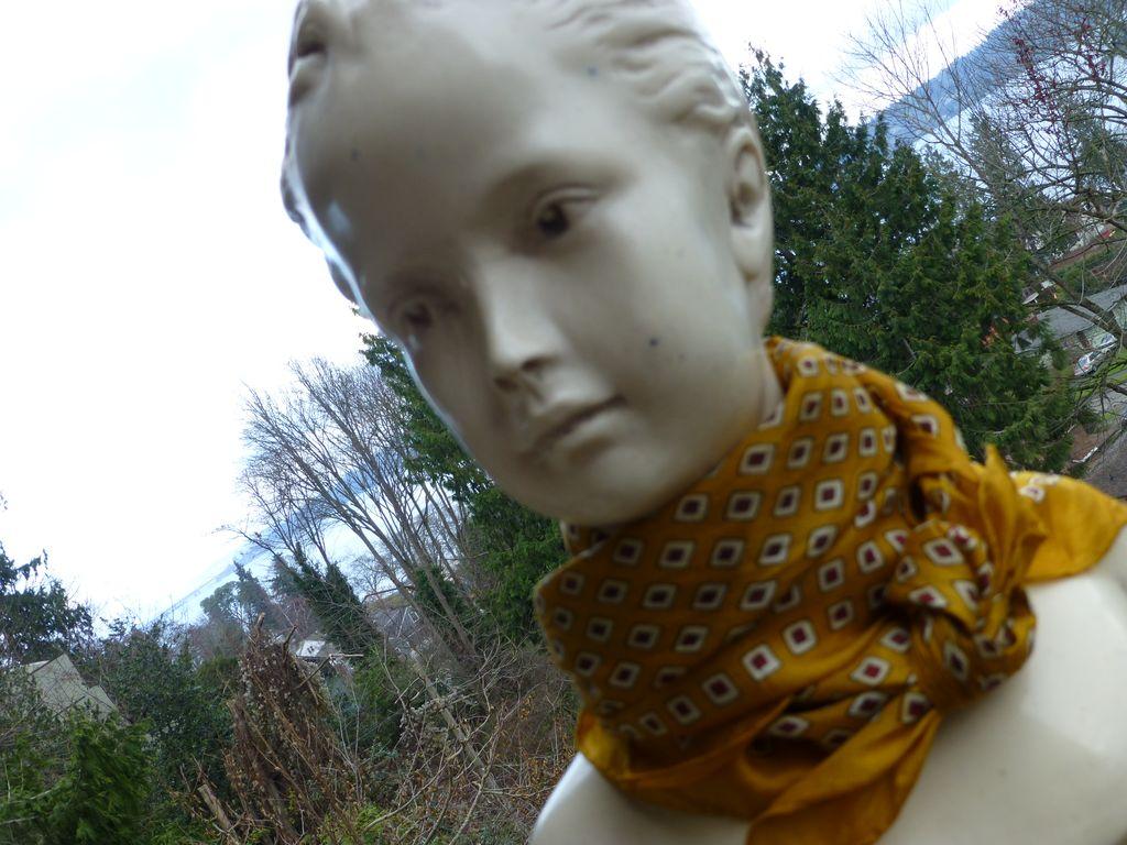 Vintage Saffron Silk Scarf