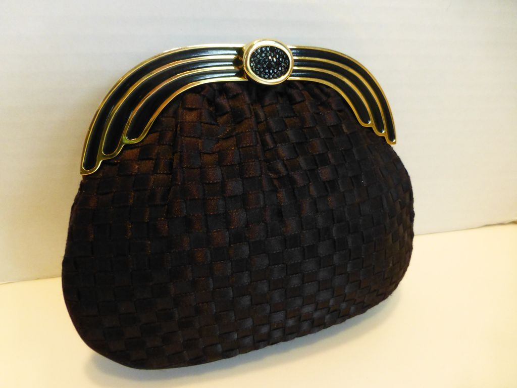 Exquisite Vintage Finesse La Model Woven Ribbon Clutch Evening Bag Sold Ruby Lane