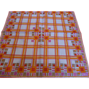 Vintage Vera Orange Plaid Scarf
