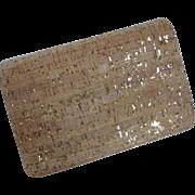 Vintage Natural Cork and Gold Shoulder Bag Clutch Purse