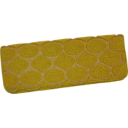 Yellow Beaded Silk Evening Clutch by Moyna New York