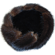 Mink Fur and Velvet Pillbox Hat by Coralie