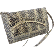 Vintage Snake Skin Shoulder Bag Clutch Purse