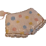 Vintage Glass Beaded Bloomers Panties Coin Purse