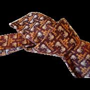 Vintage 1970's Thai Silk Necktie
