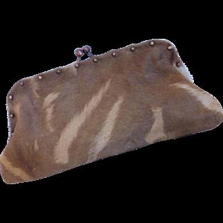 Leslie Hsu Natural Cow Hide Handbag Clutch / Handbag Purse
