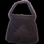 Stunning Walborg Purple Beaded Cocktail Purse Handbag